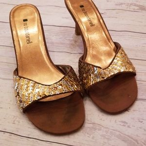 💜3/$12💜NB GOLD SEQUIN HEELS